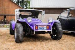 Vintage volkswagen car at the outdoor exhibit stock images