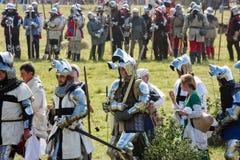 Battle of Grunwald 1410 reenactment royalty free stock photo