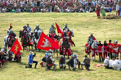 Battle of Grunwald 1410 reenactment Royalty Free Stock Photography