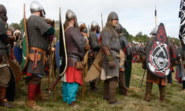 1066 Battle of Hastings. Re-enactment of the battle of Hastings in England, organised by English Heritage stock image