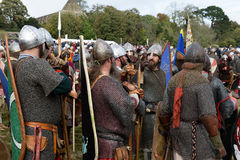 1066 Battle of Hastings. Re-enactment of the battle of Hastings in England, organised by English Heritage royalty free stock photography