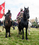 1066 Battle of Hastings. Re-enactment of the battle of Hastings in England, organised by English Heritage stock photography