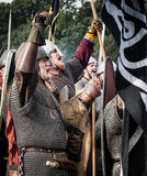 1066 Battle of Hastings. Re-enactment of the battle of Hastings in England, organised by English Heritage royalty free stock photo