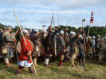 1066 Battle of Hastings. Re-enactment of the battle of Hastings in England, organised by English Heritage royalty free stock photos