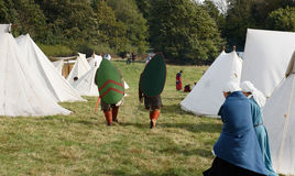 1066 Battle of Hastings. Re-enactment of the battle of Hastings in England, organised by English Heritage stock images