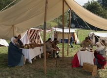 1066 Battle of Hastings. Re-enactment of the battle of Hastings in England, organised by English Heritage stock photo