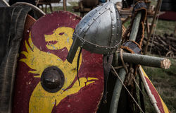 1066 Battle of Hastings. Re-enactment of the battle of Hastings in England, organised by English Heritage royalty free stock image