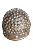 Battle helmet close-up rusted metal texture Stock Photography
