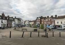 Battle High Street, Sussex, UK. View of the High Street in Battle, Sussex, England, UK Stock Images