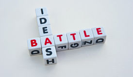 Battle for ideas Royalty Free Stock Photos