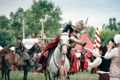 Battle of Kluszyn 1610 / 2010. WARSAW - July 04: Battle of Klushino (KLUSZYN) 1610 reenactment - July 04, 2010 in Warsaw, Poland Stock Image