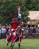 Battle of Knights. At the time of the fair of Saint John in Krakow , Poland .Every year, on the Vistula River next to the Wawel Castle is fair on the occasion Stock Photo