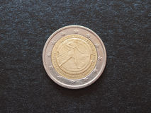 Battle of Marathon anniversary coin Stock Images
