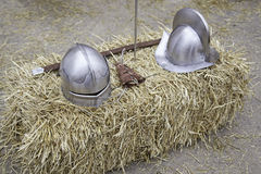 Battle Medieval Helmets Royalty Free Stock Images