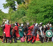 Battle of medieval knights Stock Photography