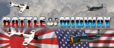Battle of Midway Royalty Free Stock Image