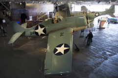 Battle of Midway. An image of the Battle of Midway display on the USS Midway in San Diego California royalty free stock photography