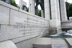Battle of Midway at WWII Memorial. Battle of Midway recognition at WWII Memorial.BATTLE OF MIDWAY JUNE 4-7, 1942 THEY HAD NO RIGHT TO WIN. YET THEY DID, AND IN stock images