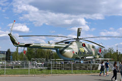 Battle military Russian helicopter MI-8 Royalty Free Stock Photography