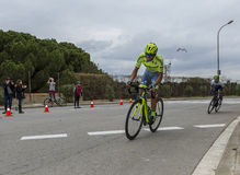 The Battle on Montjuic - Tour de Catalunya 2016 Royalty Free Stock Photos