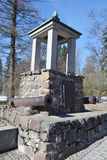 Battle Monument in 1741 between the Swedish and Russian troops. Royalty Free Stock Photos