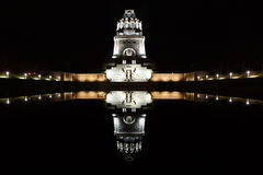 Battle of nations monument by night in Leipzig, Germany Royalty Free Stock Images
