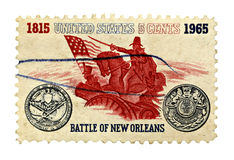 Battle of New Orleans Sesquicentennial US Stamp Stock Photo