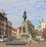 Battle Of Grunwald Monument In Krakow, Poland Royalty Free Stock Images
