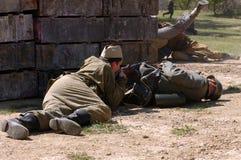 Battle at Orechov royalty free stock photo
