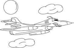 Battle plane. Vector - battle jet plane isolate on background Stock Photography