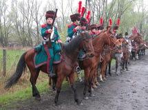 Battle of Raszyn 1809. Historical reenactment Battle of Raszyn 1809 - between armies of the Austrian Empire and the Duchy of Warsaw (Napoleonic Wars Royalty Free Stock Image