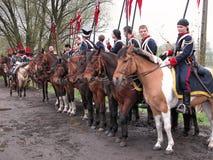 Battle of Raszyn 1809. Historical reenactment Battle of Raszyn 1809 - between armies of the Austrian Empire and the Duchy of Warsaw (Napoleonic Wars Stock Images