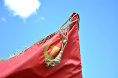 Battle red flag Royalty Free Stock Image