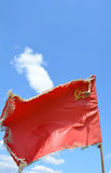 Battle red flag Royalty Free Stock Photos