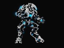 Battle robot. Advanced battle robot 3d illustration Stock Image
