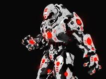 Battle robot. 3d render of battle robot war machine Royalty Free Stock Image