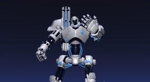 Battle Robot. Cgi render of battle robot Royalty Free Stock Photos