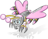 Battle Robot Cyborg Butterfly Vector Stock Photo