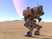 Battle robot. 3D CG rendering of a battle robot royalty free illustration