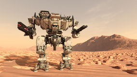 Battle robot Royalty Free Stock Images