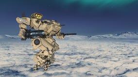 Battle robot. 3D CG rendering of a battle robot royalty free stock photos