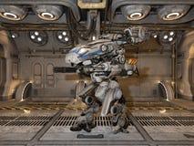 Battle robot royalty free stock photo