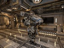 Battle robot Stock Image