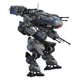 Battle robot. Image of battle robot on white background Royalty Free Stock Image