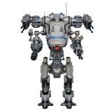 Battle robot. Image of battle robot on white background Stock Photo