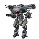 Battle robot. Image of battle robot on white background Stock Image