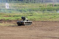 Battle robotic complex Nerekhta royalty free stock photography