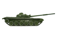 Battle russian tank on a white Royalty Free Stock Photo