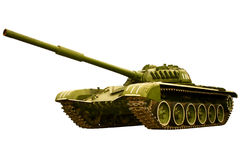 Battle russian tank on a white Royalty Free Stock Photography
