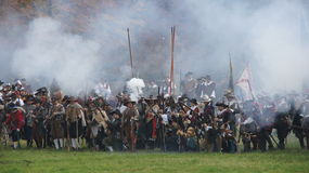 Battle scene of Grolle Royalty Free Stock Photography